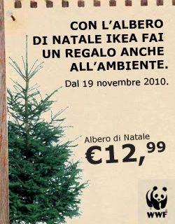 Albero di Natale Ikea: usa e NON getta. E aiuti il WWF.