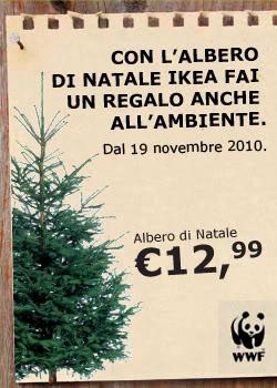 Albero di natale ikea usa e non getta e aiuti il wwf for Albero di natale vero