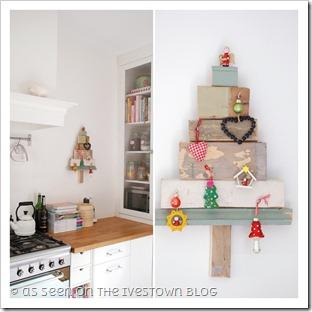 Come fare un albero di Natale ecologico con 6 blocchetti di legno