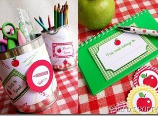 Etichette per la scrivania dei bambini {Green.itudine del 7 settembre 2011}