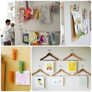 Come organizzare una piccola mostra dei disegni dei bambini