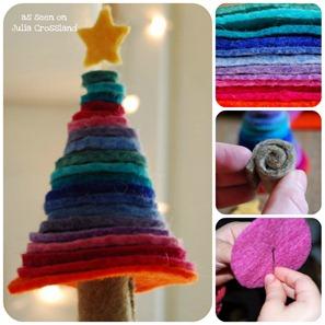 Come fare un albero di Natale di feltro