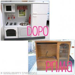Come trasformare un vecchio mobile in una cucina per bambini