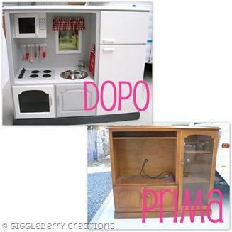 Come trasformare un vecchio mobile in una cucina per - Cucine per bambine ...