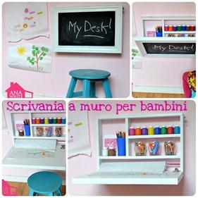 Come fare una scrivania a muro per i bambini babygreen - Scrivania per bambini ikea ...