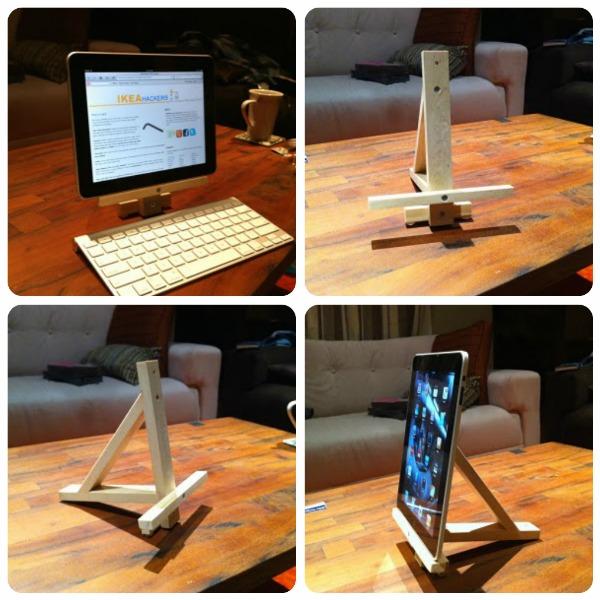 Come costruire uno stand reggi tablet o ipad a costo zero - Porta tablet ikea ...