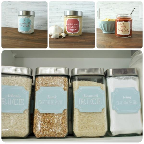 Etichette per cucina più bella e organizzata
