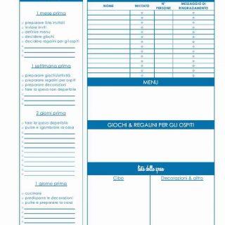 Festa di compleanno per bambini: planner in pdf