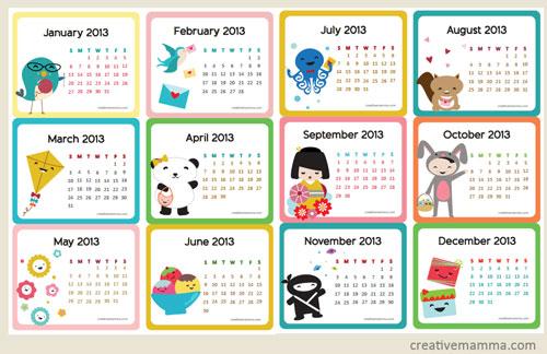 Year Calendar Sia : Pdf gratis calendari babygreen