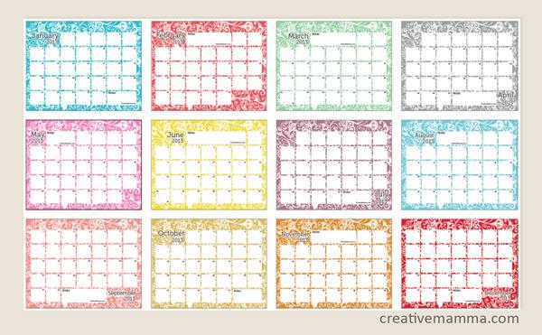 Calendario Per Appunti.Pdf Gratis Calendari 2013 Babygreen