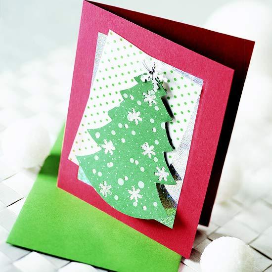 Cartoline di Natale fai da te - BabyGreen