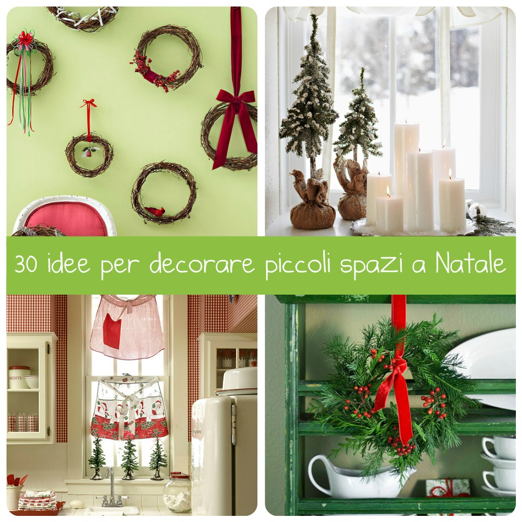 30 idee per decorare piccoli spazi a natale babygreen for Piccoli acquari per casa