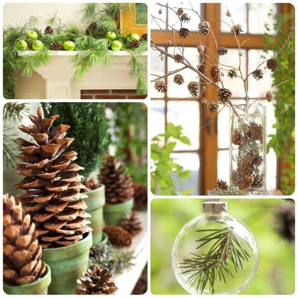 Come decorare con le pigne babygreen - Pigne decorate natalizie ...