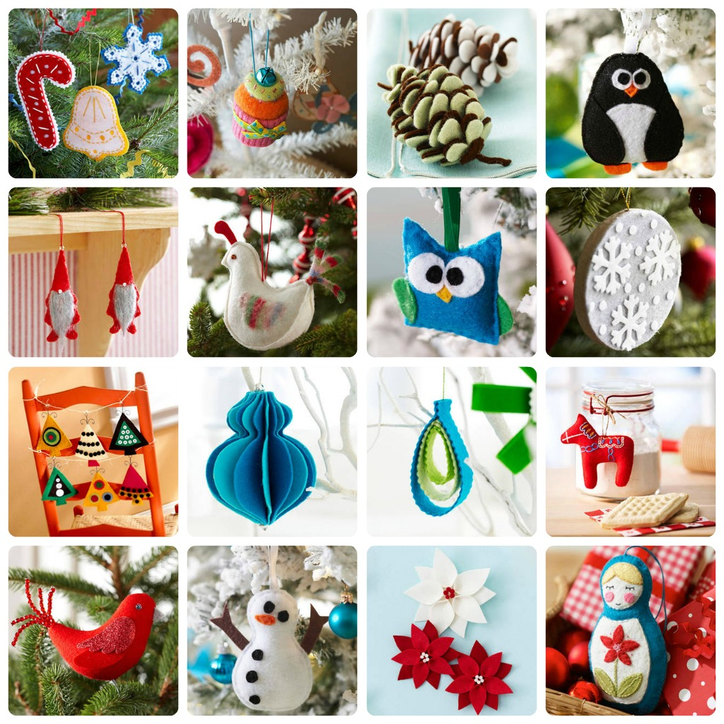 20 idee per decorare con il feltro babygreen for Decorare stanza natale