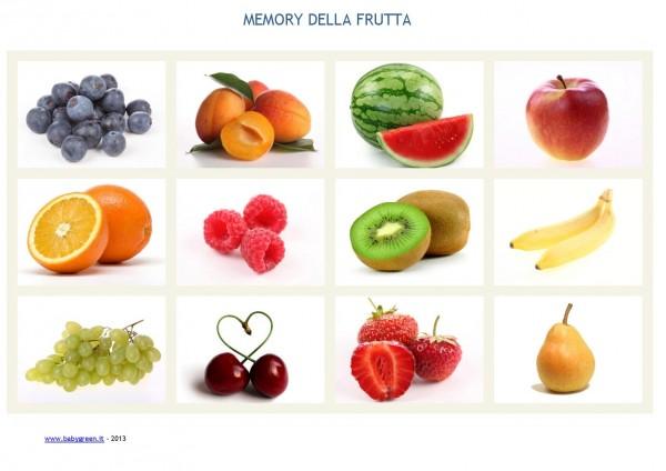 Carte memory da stampare pdf gratis babygreen for Frutta da colorare e ritagliare