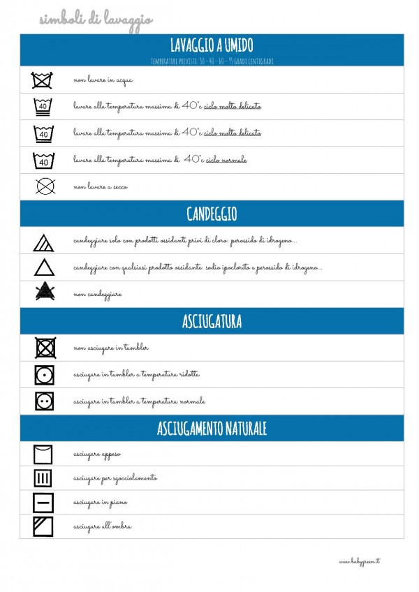 Favorito Come leggere le etichette dei vestiti: simboli di lavaggio [PDF  VA43