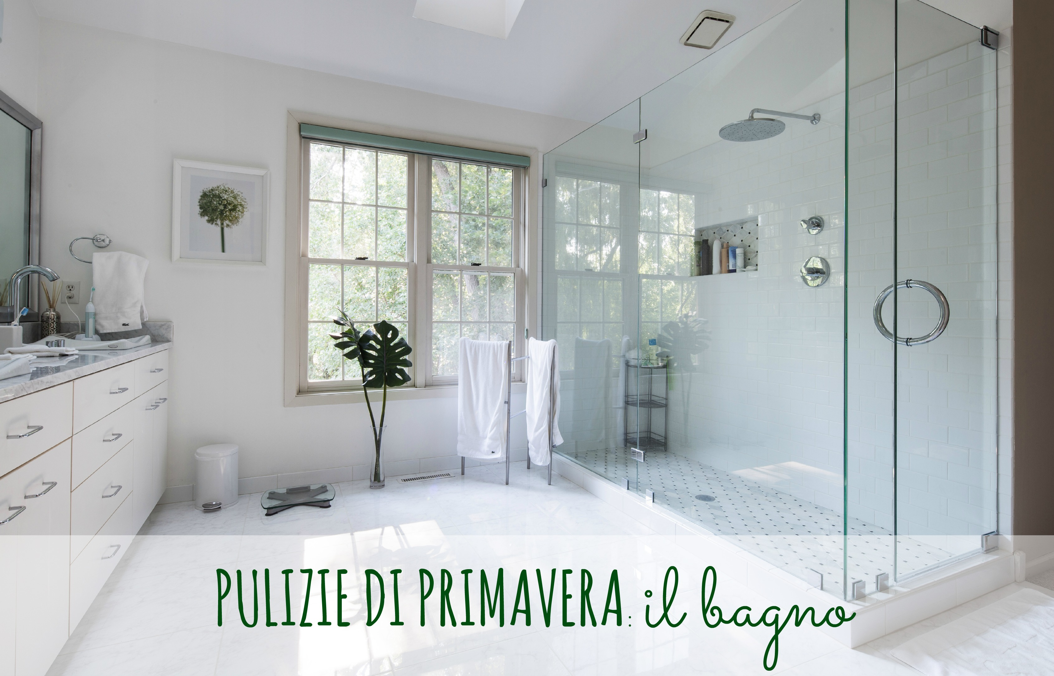 Pulizie di primavera il bagno babygreen for White bathroom ideas photo gallery