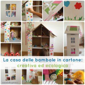 la casa delle bambole di cartone creativa ed ecologica