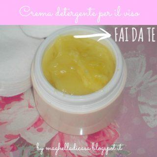 crema detergente per il viso