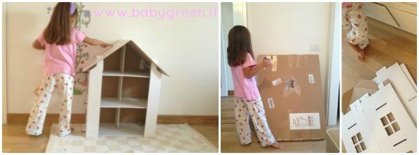 La casa delle bambole di cartone creativa ed ecologica for Costo dell appaltatore per costruire una casa