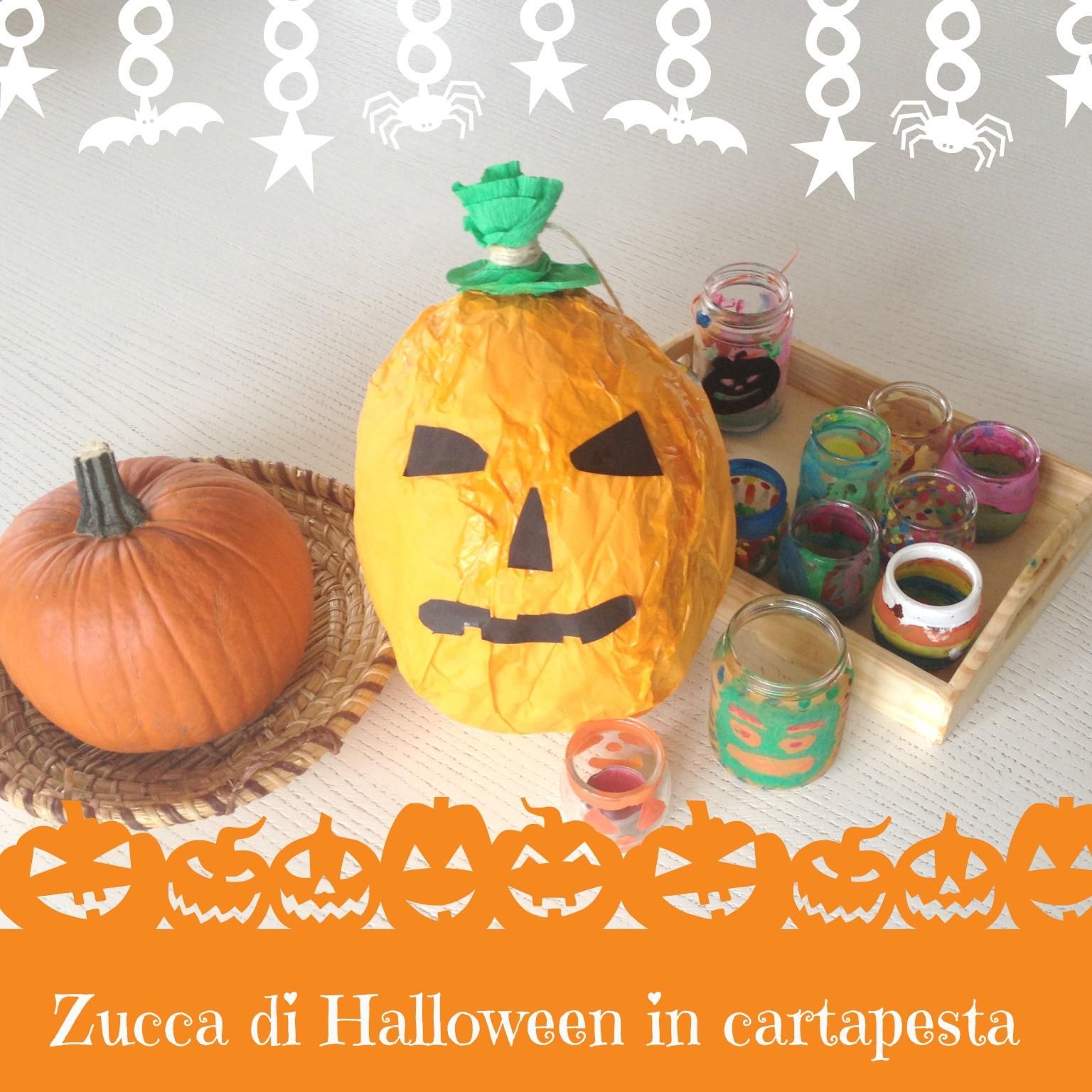 Zucca Halloween Cartapesta.Zucca In Cartapesta Per Halloween Babygreen