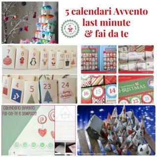 5 calendari dell'Avvento: last minute & fai da te