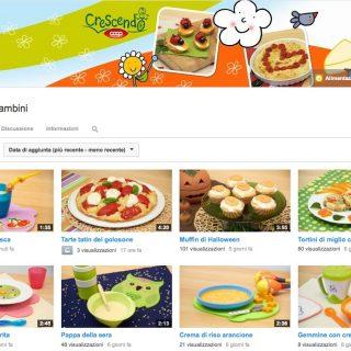 Ricette per bambini: un nuovo canale youtube