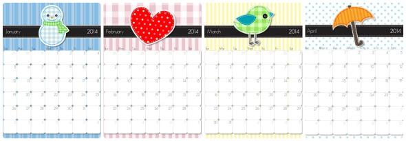 Calendario Appunti Da Stampare.Calendari 2014 Da Scaricare E Stampare Gratis Babygreen