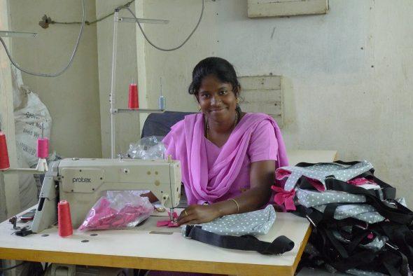 Azienda tessile in India