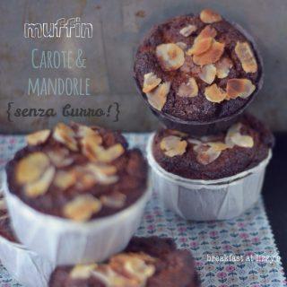 Muffin alle carote e mandorle (senza burro e senza glutine)