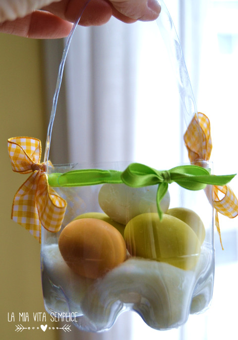 Bricolage Con Bottiglie Di Plastica.Cestini Di Pasqua Con Bottiglie Di Plastica Senza Colla