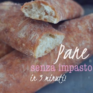 Pane senza impasto in 3 minuti