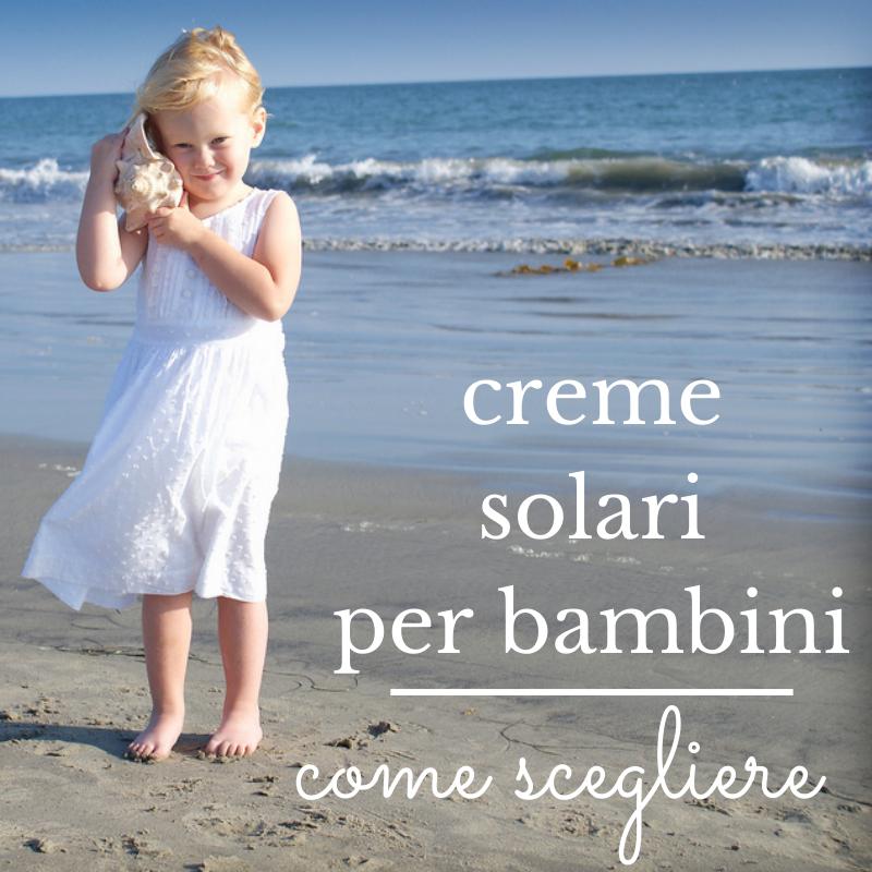 Creme solari per bambini