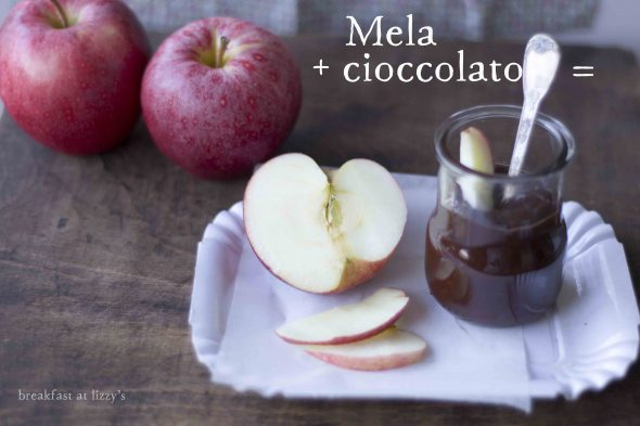 merenda mela e cioccolato