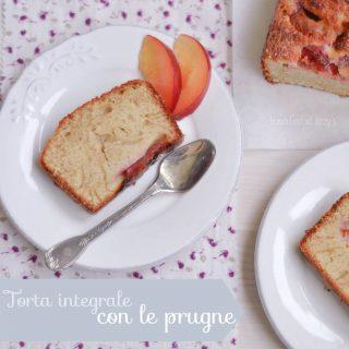 Torta integrale con le prugne