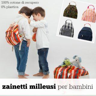 Zainetti per bambini: nuovissimi, milleusi ed ecologici