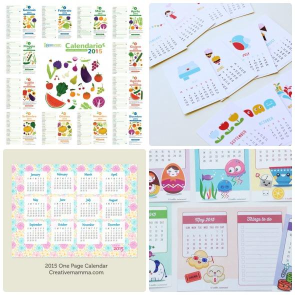 Calendario Da Scaricare.Calendari 2015 Da Scaricare E Stampare Gratis Babygreen