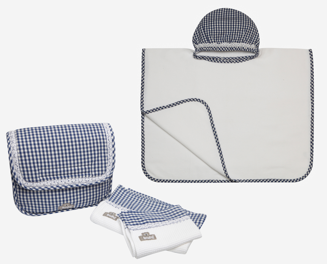 set-asciugamani-poncho-blu