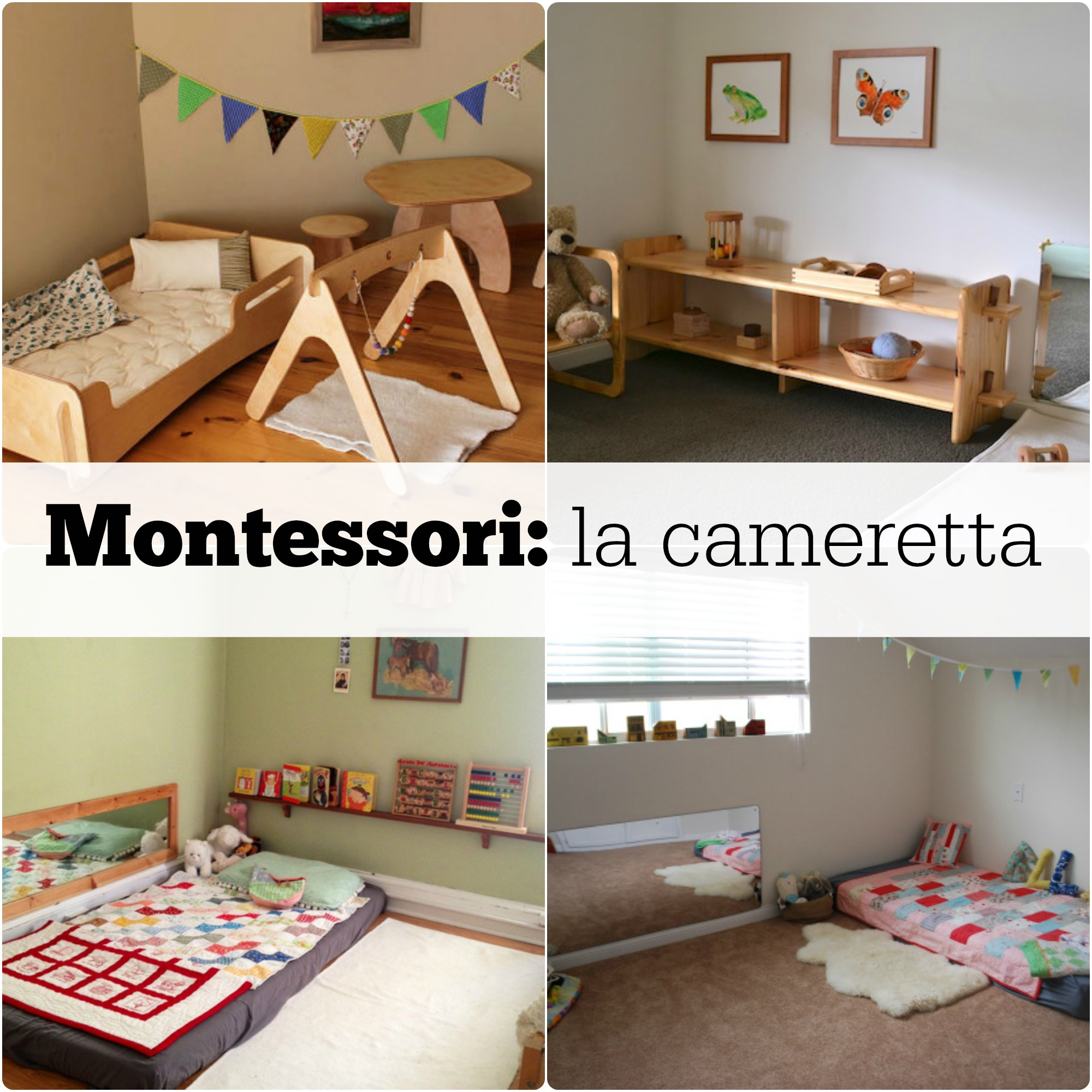 Montessori la cameretta babygreen for Arredamento camera bambina
