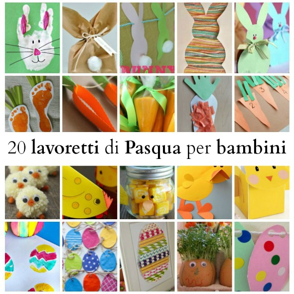 abbastanza 20 lavoretti di Pasqua per bambini - BabyGreen PZ76