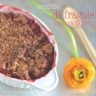 Crumble di fragole (senza burro)