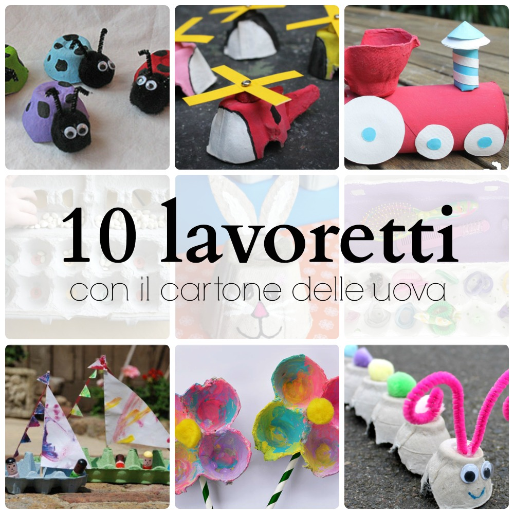 Cose Creative Con La Carta 10 lavoretti con il cartone delle uova - babygreen