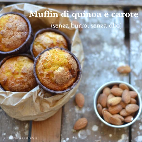 muffin di quinoa e carote