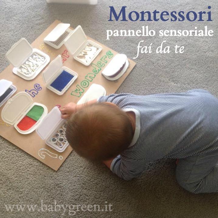 Pannello sensoriale montessori