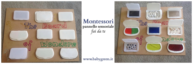 Pannello sensoriale montessori tx 2 babygreen for Papillon bambino fai da te