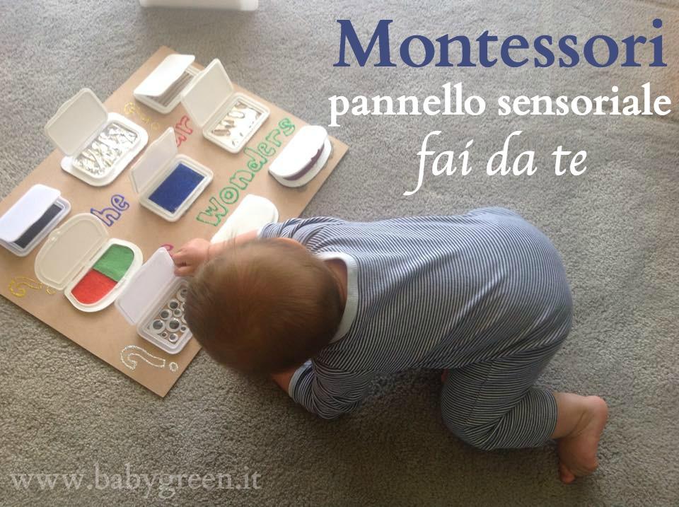 Famoso Montessori: pannello sensoriale fai da te - BabyGreen WR26
