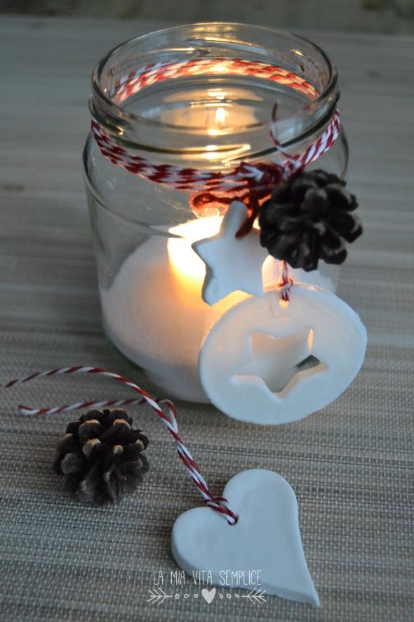 Come fare una lanterna di natale con un barattolo di vetro - Decorare candele per natale ...