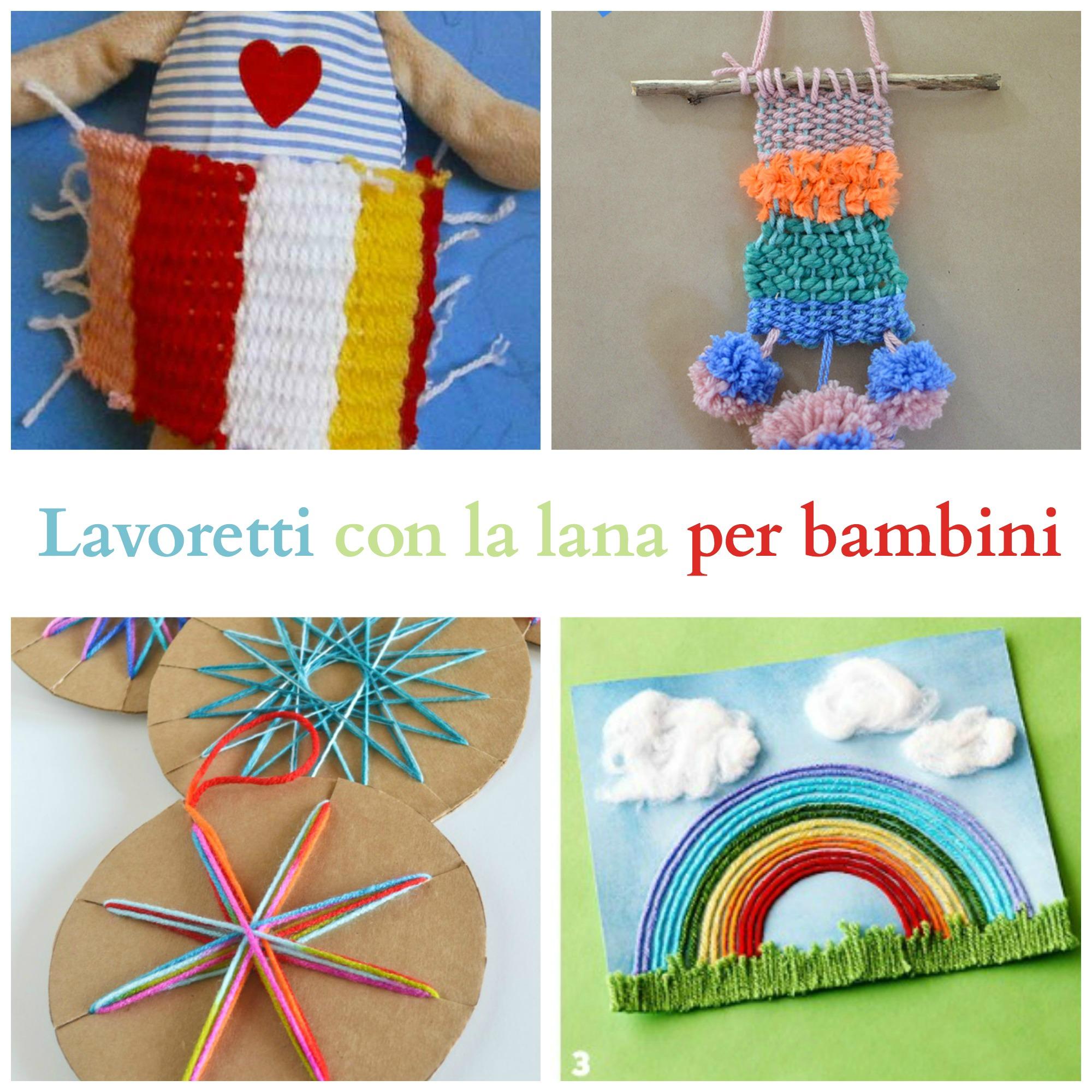 Lavoretti con la lana per bambini babygreen for Lavori creativi da casa