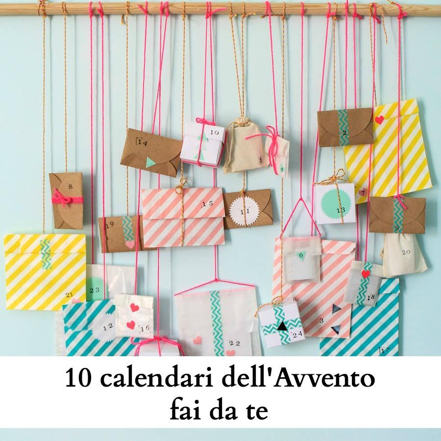 Calendario Avvento Fai Da Te Bambini.10 Calendari Dell Avvento Fai Da Te Babygreen