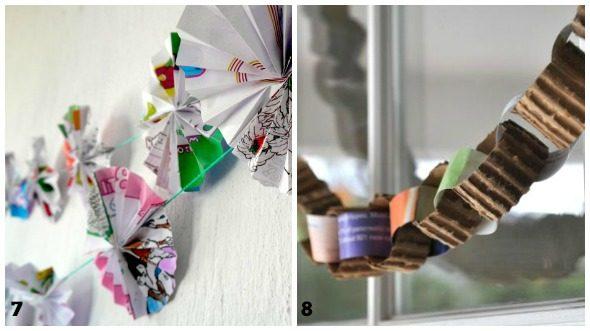 Lavoretti di Natale con carta da regalo riciclata